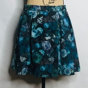 EXPRESS floral print mini skirt size small